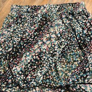 5d3b5b07bd xhilaration. Floral, lined Summer Skirt with elastic Waist. XXL